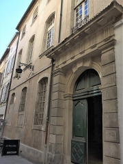 Hôtel de Viguier -  Arles (Bouches-du-Rhone, France),  Viguier mansion , one of the many mansions of the seventeenth century, characteristic of Arles\' architecture. Private property currently under construction.