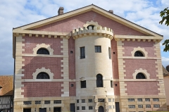 Ancienne prison - English: France, Normandy, Pont-l'évêque: old jail, named