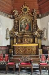 Hôtel de la Tour du Pin (Hôtel de Bricqueville) - English: High altar/retable of the Notre-Dame church of Auquainville (Calvados, Lower Normandy, France). This church is listed as a historical monument.
