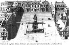Statue de Louis XIV -  caen_place_republique_gravure