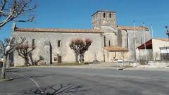 Eglise Saint-Martial - English: The Church in St Martial de Mirambeau, 17150 France