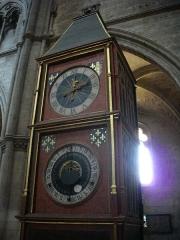 Eglise Saint-Pierre-le-Marché (actuelle église Notre-Dame) - Cathédrale Saint-Étienne de Bourges (Cher, France), horloge astronomique