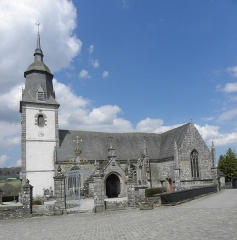 Château de Trégarantec - Église Notre-Dame de Délivrance du Quillio (22). Vue méridionale.
