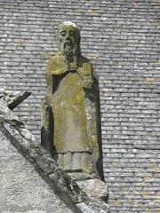 Château de Trégarantec - Église Notre-Dame de Délivrance du Quillio (22). Porche sud. Détail. Statue de Saint.