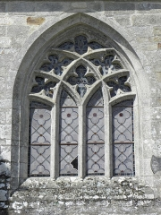 Château de Trégarantec - Église Notre-Dame de Délivrance du Quillio (22). Seconde fenêtre de la costale sud de la nef.