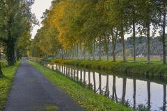 Canal de Lalinde (aqueduc du port de Lanquais) - Français:   Le canal de Lalinde, portion dénommée \