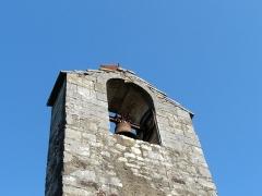 Chapelle Notre-Dame du Mouret - Le clocheton-mur de la chapelle Notre-Dame du Mouret, la Chapelle-Mouret, Terrasson-Lavilledieu, Dordogne, France.