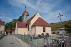 Eglise - Français:   Saint-Point-Lac - église Saint-Point et cimetière