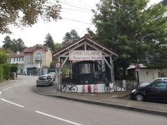 Funiculaire - Nederlands: De kabelbaan in Besançon buiten gebruik.