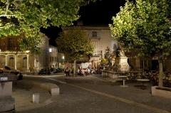 Statue de Madame de Sévigné -  Evening in Grignan, Provence, France