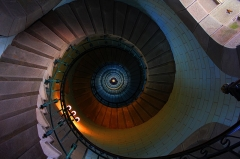 Phares de la pointe de Penmarc'h - English: Stairway inside of the Firehouse Phare Eckmuehl at the west-cost of Brittany / France