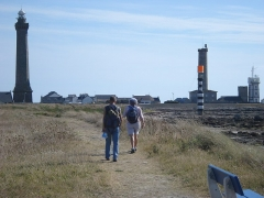 Phares de la pointe de Penmarc'h - English: Wandelaars bij vuurtorens Pointe de Penmarc'h