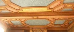 Château de Pérennou - Français:   Plomelin: décor du plafond d\'une des salles du château du Perennou