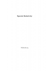 Immeuble dit Maison forte - English: PDF Version of English Wikibook on Special Relativity