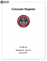 Immeuble dit Maison forte - English: The Colorado Register from July 25, 2014 (37 CR 14).