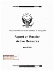 Monument commémoratif de Napoléon Ier - English: The redacted version of the final report on Russian interference in the 2016 U.S. presidential election issued by the House Intelligence Committee.