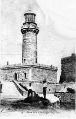 Phare de la Giraglia, sur l'île de la Giraglia -  Postcard of lighthouse on Giraglia, Corsica about 1900. Cap Corse lighthouse