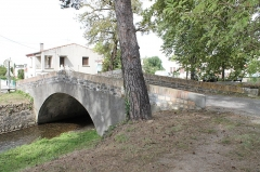 Pont du Riat - Français:   Pont en dos d\'âne, enjambant la Rigole de la Plaine à Revel