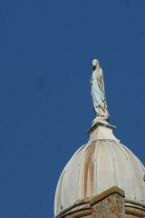 Château - Nederlands:   Het Maria beeld op de Tour de la Vierge.