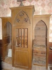 Chapelle Notre-Dame de Cahuzac - Confessionnal dans la chapelle Notre-Dame de Cahuzac à Gimont.