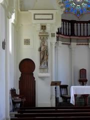 Chapelle Sainte-Marie-du-Cap - Chapelle Sainte-Marie-du-Cap, chapelle de la Villa Algérienne à Lège-Cap-Ferret (33). Intérieur. Partie gauche du chœur et statue de Saint-Joseph.