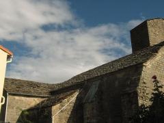 Eglise paroissiale Saint-André de Valquières - Français:   toit en lauzes