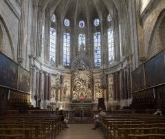 Ancien atelier de potier Albe - Sabadel - Béziers, Cathédrale Saint-Nazaire - chœur et autel