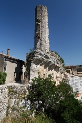Citadelle -  Remains of the tower of the vicomtal castle of Minerve.