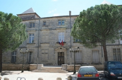 Château des Bashy du Cayla, dit du Comte de Turenne (actuel hôtel de ville) - Français:   Pignan (Hérault) - Château de Turenne, actuelle mairie.