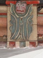 Eglise Saint-Médard - Blochet de la charpente de l'église Saint-Médard de Torcé (35).