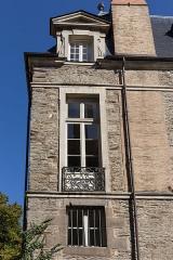 Ancien hôtel de Marbeuf - L'hôtel de Marbeuf à Rennes lors des journées européennes du patrimoine le 20 septembre 2015: façade sur la rue des Fossés.