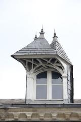 Maison à lucarne de type compagnonnique - Français:   Maison, 50, 52, 54, 56, 58 rue de la Gare (Classé, 1999)