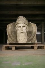 Imprimerie Mame - Français:   Sculpture de Gutenberg exposée auparavant devant l\'usine MAME.