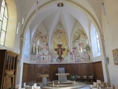 Monastère des Clarisses - Français:   Château de Poligny (Jura), fresque de l\'église du monastère des Clarisses de Poligny