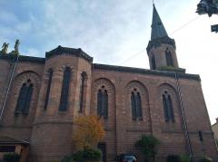 Ancienne église prieurale - Français:   La façade nord de l\'église Saint-Julien de Régny (Loire, France).