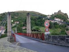 Pont suspendu de Chilhac - Deutsch: Brücke über den Allier in Chilhac in der Auvergne