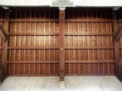 Eglise Notre-Dame - Intérieur de l'église Notre-Dame de Clisson (44). Collatéral gauche. Plafond.
