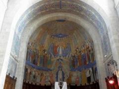 Eglise Notre-Dame - Intérieur de l'église Notre-Dame de Clisson (44). Abside.