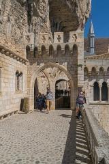 Cité religieuse - Français:   Terrasse au cité religieuse de Rocamadour, Lot, France