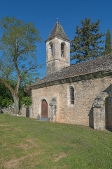 Eglise Saint-Cyr et Sainte-Julitte, ancienne chapelle du château de la Pannonie - English: Saint Cyr and Saint Julitte Church of La Pannonie, Couzou, Lot, France