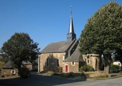 Eglise paroissiale -  Village of Chenillé-Changé, located on the river Mayenne in the département of Maine-et-Loire in the Region Pays de la Loire in France; old church.
