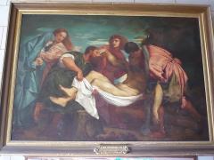 Eglise Sainte-Madeleine - Français:   Mise au tombeau. Tableau de l\'église Sainte-Madeleine de Segré, Maine-et-Loire