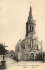 Eglise paroissiale - Français:   Carte postale ancienne de l\'église de Sainte-Gemmes
