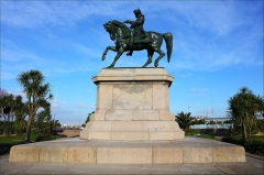 Statue de Napoléon Ier, à Octeville - This building is indexed in the Base Mérimée, a database of architectural heritage maintained by the French Ministry of Culture,under the reference PA50000049 .