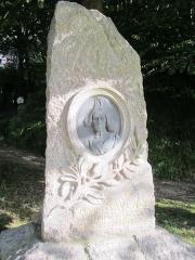 Stèle de Marie Ravenel - Français:   Stèle de Marie Ravenel, Fermanville