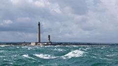 Phare de Gatteville et ancien phare, sémaphore de Barfleur - Phare de Gatteville sur la pointe de Barfleur, Normandie, France