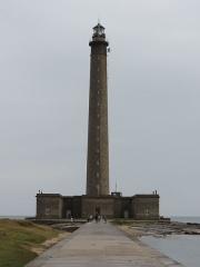 Phare de Gatteville et ancien phare, sémaphore de Barfleur - Français:   Vue du phare de Gatteville