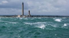 Phare de Gatteville et ancien phare, sémaphore de Barfleur - Français:   Phare de Gatteville sur la pointe de Barfleur, Normandie, France