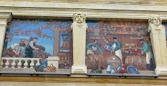 Cellier d'expédition - English: Reims, champagne company G.H. Mumm, mosaics