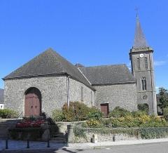 Eglise Saint-Martin - Français:   Église Saint-Martin de Châtillon-sur-Colmont (53). Façade occidentale et flanc sud.